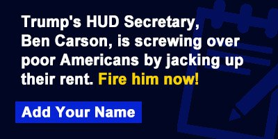 Trump's HUD Secretary, Ben Carson, is screwing over poor Americans by jacking up their rent. Fire him now!